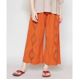 【チャイハネ】南インドの織り布 サハラワイドパンツ オレンジ