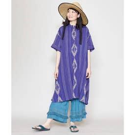 【チャイハネ】南インドの織り布 サハラワンピース ブルー
