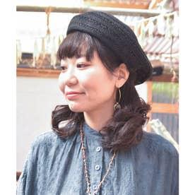 【チャイハネ】サラリベレー帽 ブラック