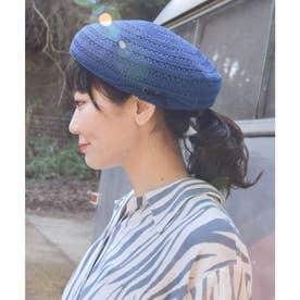 【チャイハネ】サラリベレー帽 ブルー