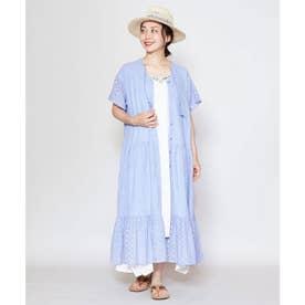 【チャイハネ】yul 総刺繍コットンティアードワンピース パープル