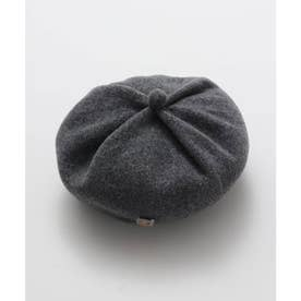 【欧州航路】ドレープウールベレー帽 チェコガラスボタン付き グレー