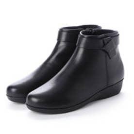 :使い勝手の良いアンクル丈ブーツ CR23854 (ブラック)