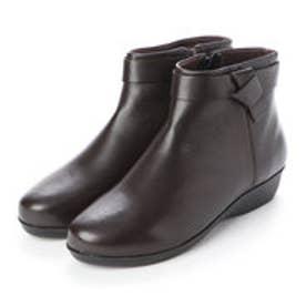 CARLO ROSSETTI: 使い勝手の良いアンクル丈ブーツ CR23854 (ダークブラウン)