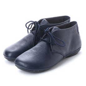 RIGHT NINA / ブーツ ハイカット プレーン フラット (ネイビー)