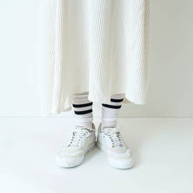 NOTHING / レースアップ 外羽 プレーントゥ (ピュアホワイト)