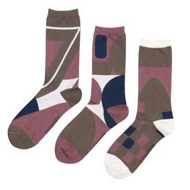 Men Triplet socks ソックス (マリンブルー)