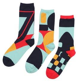 Men Triplet socks ソックス (クロムイエロー)