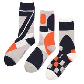 Men Triplet socks ソックス (オレンジ)