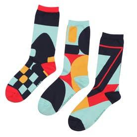 Woman Triplet socks ソックス (クロムイエロー)