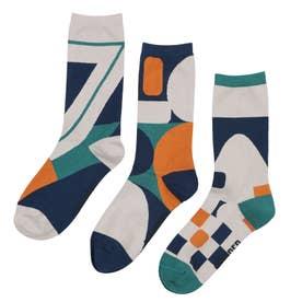 Woman Triplet socks ソックス (モカ)