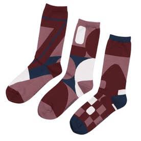 Woman Triplet socks ソックス (ホワイト)