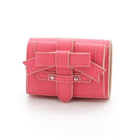 ADORABLE CANDY RIBBON MINI WALLET (VIVID PINK)