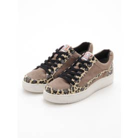 LEOPARD SWITCHED SNEAKERS (BEIGE)