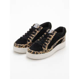 LEOPARD SWITCHED SNEAKERS (BLACK)