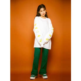 FRILL RIB PANTS (GREEN)