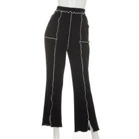 WAVY RIB PANTS (BLACK)