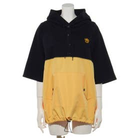 PLAYFUL BEAR SWITCHED HOODIE (NAVY×YELLOW)