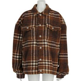 FINE CHECK JACKET (BROWN)