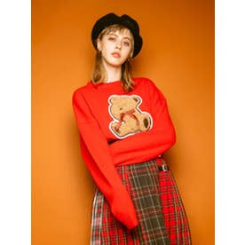 LOOKS LONELY TEDDY KNIT (RED(EC限定))