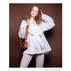 RIBBON BLOUSE (OFF WHITE)