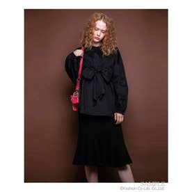 RIBBON BLOUSE (BLACK)