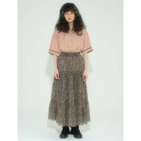TULLE TIERED SKIRT (LEOPARD)