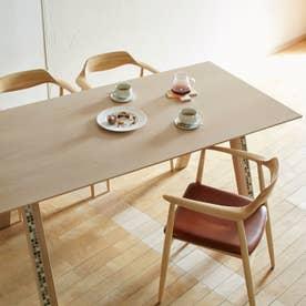 ダイニングテーブル(脚タイル) 【返品不可商品】(オーク材・ウレタン塗装艶なし)