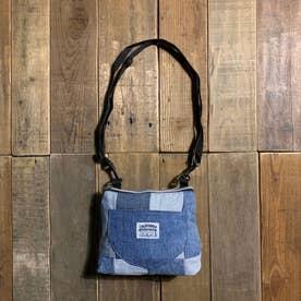 recycleデニム ポケットMINIショルダーバッグ (ブルー系)