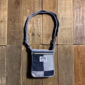 recycleデニム MINIスクエアショルダーバッグ SQUARE SHOULDER (ブルー系)