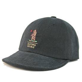 Bear刺繍・ショートバイザーキャップ S.V CAP (Black)