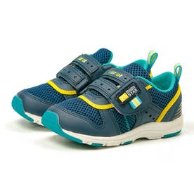 スニーカー キッズ ジュニア 軽量 子供靴 運動靴 通園靴 抗菌 防臭 速乾 男の子 女の子 CR C2175 (ネイビー)