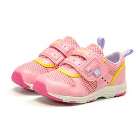 スニーカー キッズ ジュニア 軽量 子供靴 運動靴 通園靴 抗菌 防臭 速乾 男の子 女の子 CR C2175 (ピーチ)