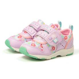 スニーカー キッズ ジュニア 軽量 子供靴 運動靴 通園靴 抗菌 防臭 速乾 男の子 女の子 CR C2175 (パープル)