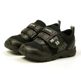 スニーカー キッズ ジュニア 軽量 子供靴 運動靴 通園靴 抗菌 防臭 速乾 男の子 女の子 CR C2175 (ブラック)