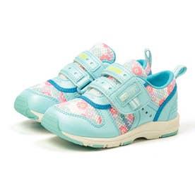 スニーカー キッズ ジュニア 軽量 子供靴 運動靴 通園靴 抗菌 防臭 速乾 男の子 女の子 CR C2175 (サックス)