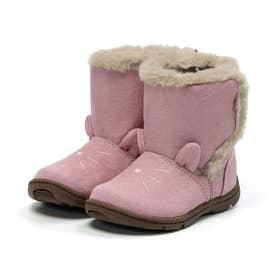 キッズ 女の子 子供 ムーンスター moonstar ブーツ ネコ もこもこブーツ かわいい CR C2300 (ピンク)