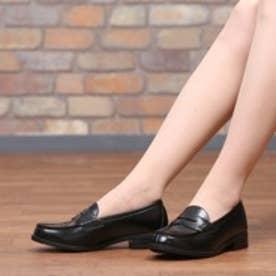 SHOE・PLAZA ウォッシャブル(ブラック)/ローファー/学生靴