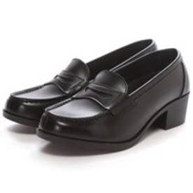 SHOE・PLAZA ウォッシャブル(ブラック)ローファー/学生靴/洗える
