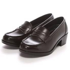 SHOE・PLAZA ウォッシャブル(ダークブラウン)ローファー/学生靴/洗える