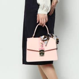 アモ スカーフ付配色ショルダー (ピンク)