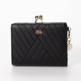 プレイド 二つ折りガマ口財布 (ブラック)
