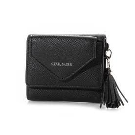 オクナ 三つ折りミニ財布 (ブラック)