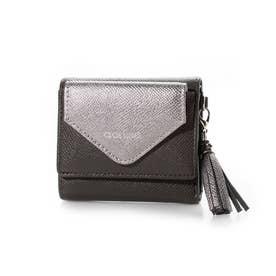 オクナ 三つ折りミニ財布 (グレー)