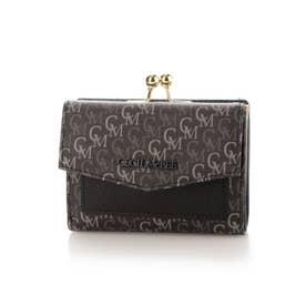 モノ ガマ口二つ折り財布 (ブラック)