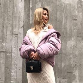 中綿フードジャケット (ピンク)