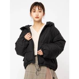 中綿フードジャケット (ブラック)