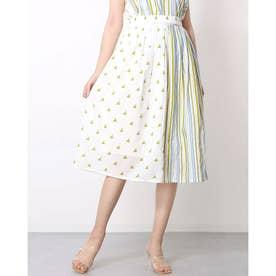 綿100%のインド製ふんわりスカート (グリーン)