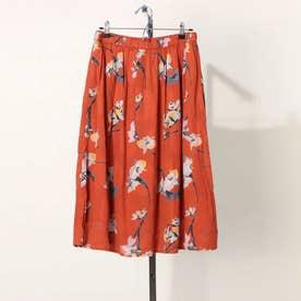 フラワープリントスカート (オレンジケイ)