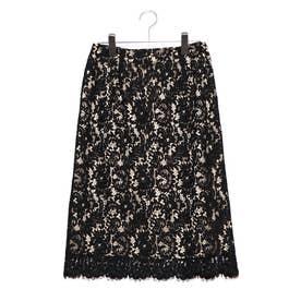 コードレースタイトスカート (ブラック)